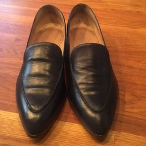 J Crew Navy leather loafers